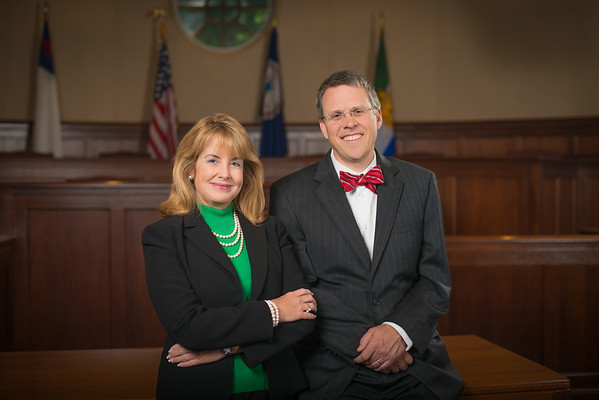 The Honorable Patricia L. West, Distinguished Professor and Associate Dean, with Jeffrey A. Brauch, Dean, School of Law